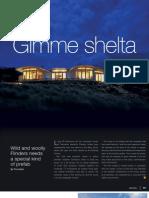 Sanctuary magazine issue 9 - Gimme shelta - EcoShelta green home profile