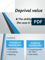 Slide Deprival Value