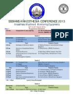 SANCON 2013 Programme Schedule