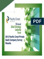 Pacific Crest 2013 SaaS Survey