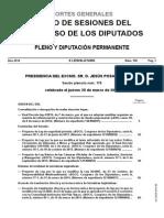 20032014 Diario Sesion Congreso Diputados