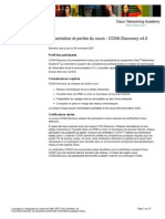 Fr CCNA Discovery Scope and Sequence