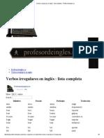 Verbos irregulares en inglés _ lista completa - Profesordeingles