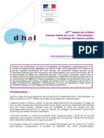 30eme Atelier de La Dihal du 3 Avril 2014 - Programme