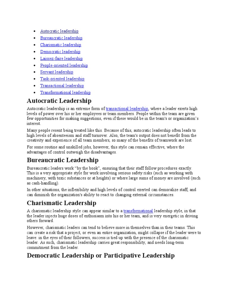 autocratic leadership servant leadership leadership mentoring