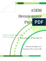 iGEM Sponsorship Package