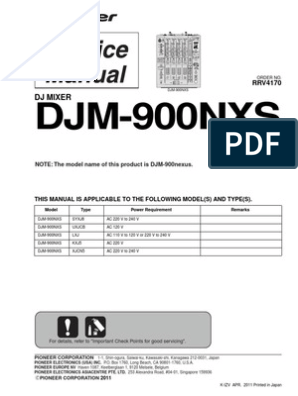 Pioneer Djm 900nxs | Digital Audio | Electrical Connector
