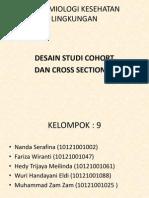 desain studi cohort dan cross sectional