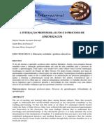 texto5-A INTERAÇÃO PROFESSOR-ALUNO E O PROCESSO DE APRENDIZAGEM