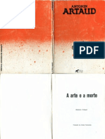 Antonin Artaud a Arte e a Morte Hiena Editora 1985