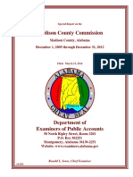 Special report audit on Madison County Commission District 3