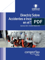 Directriz Corporativa Sobre Accidentes e Incidentes en El Trabajo