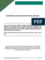 Document Custodians Job Aid