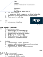 Basic Newborn Assessment Flashcards