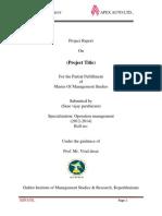 APEX AUTO LTD Final Report.