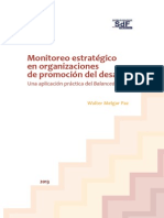 Monitoreo estratégico en organizaciones de promoción del desarrollo Una aplicación práctica del Balanced Scorecard