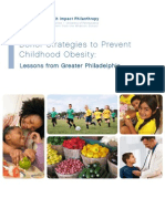 Donor Strategies to Prevent Childhood Obesity