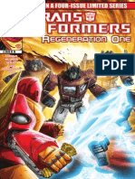 Transformers Regeneration One #100 Preview