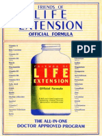 Friends of Life Extension Official Formula marketing sheet