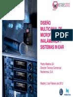 Diseño multicanal de microfonía inalámbrica y sistemas in ear