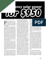 Emergency Solar Power for $950...by Jeff Yago