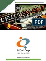UTPT 2014 Lieut-en-ent Prelims Answers