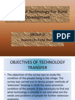 Transfer of Technology for Rural Development
