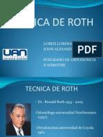 Tecnica de Roth Presentacion
