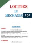 Velocity in Mechanisms