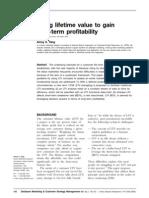 8_Using Lifetime Value to Gain Long-term Profitability