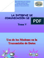Tema 5 La Interfaz de Datos y Modems