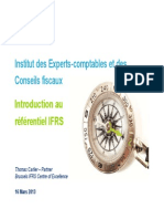 IFRS - Introduction Aux IFRS - Mars 2013 Thomas CARLIER