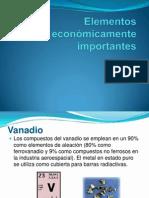 Elementos económicamente importantes 1