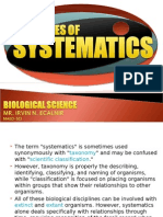 """The Term """"Systematics"""" is Sometimes Used Synonymously With """"Taxonomy"""" And"""