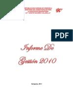 INFORME DE GESTIÓN 2010