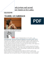 New Report Finds Torture and Sexual Violence Against Tamils in Sri Lanka Increasing