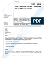 NBR 14860-2 - 2002 - Laje Pré-Fabricada - Pré Laje - Requisitos Parte 2 - Lajes Bidirecionais