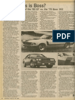 Autoweek drive review of the 1983 Ford Mustang Boss 302