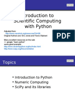 Intro to Scientific Computing With Python