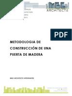 METODOLOGIA DE COSNTRUCCIÓN DE UNA PUERTA DE MADERA