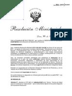 Norma Técnica RM383-2006