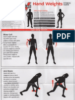 Valeo Hand Weights Fitness Guide Exercises Wall Poster