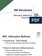 Revised IRR RA 9184 (Alternative Modes)