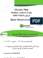 The New Public Safety Decree 7964 and Its Technical Impact on the Construction Field in Lebanon