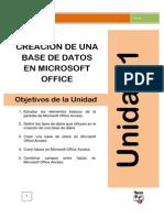 Creacion de Una Base de Datos y Combinacion de Campos