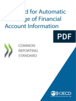 Automatic Exchange Financial Account Information Common Reporting Standard