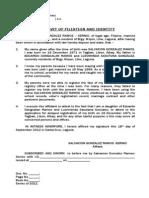 Affidavit of Filiation