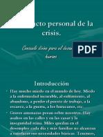 Impacto de La Crisis Financiera Personal