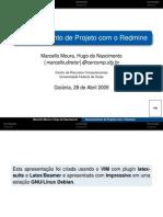 Gerenciamento de Projetos Com Redmine - CERCOMP