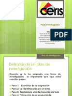 CERIS  Plan investigación